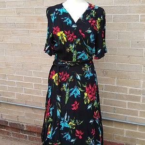 Floral Eloquii Wrap Dress